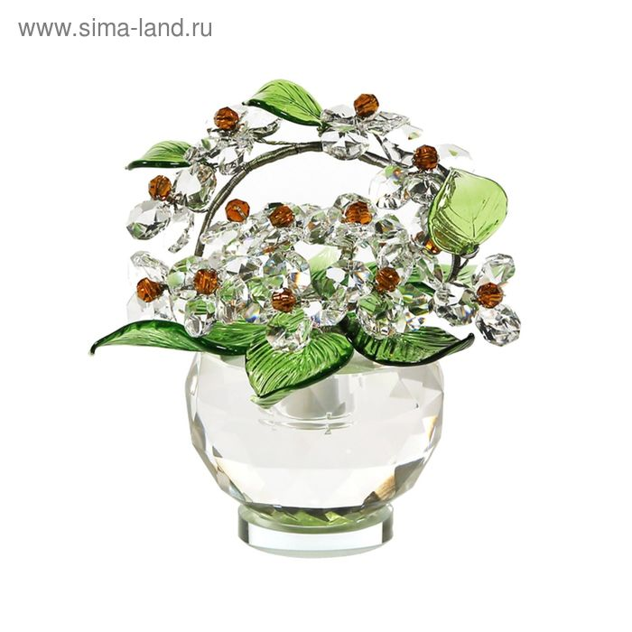 Хрустальные цветы в вазочке №52 CR t