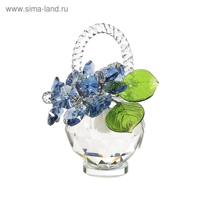Хрустальные цветы в корзинке №32 LT BL