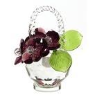 Хрустальные цветы в корзинке №32 VIN