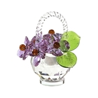 Хрустальные цветы в корзинке №32 VL