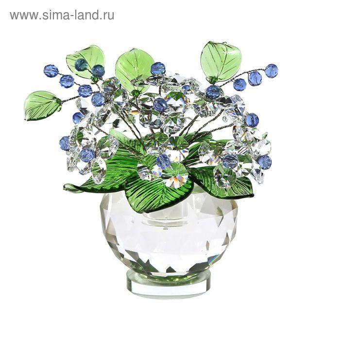 Хрустальные цветы в вазочке №53 CR lb