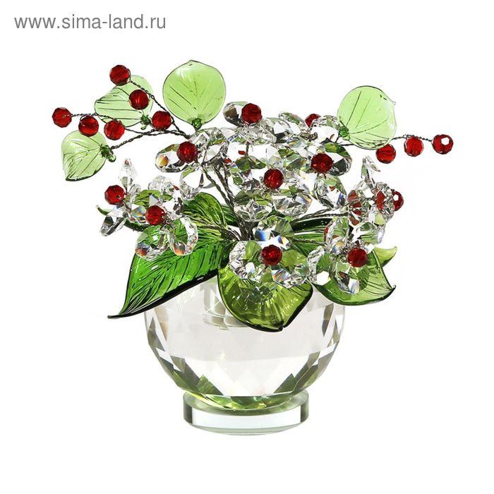Хрустальные цветы в вазочке №53 Cr r