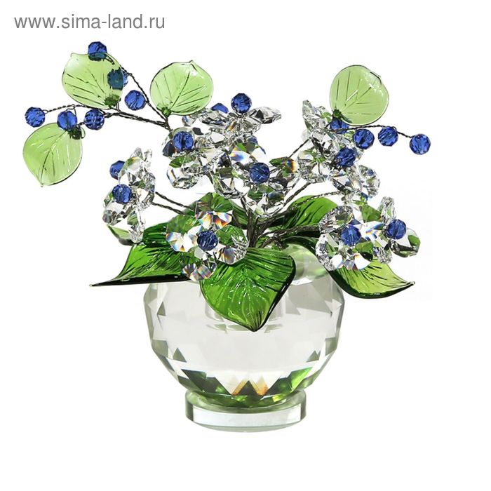Хрустальные цветы в вазочке №53 CR s