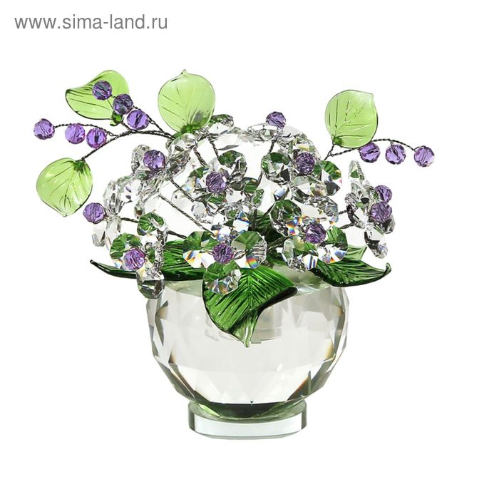 Хрустальные цветы в вазочке №53 CR vl