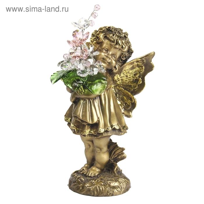 """Статуэтка """"Маленькая фея с хрустальными цветами"""" CR ROS"""