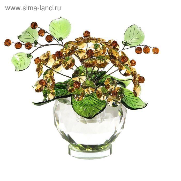 Хрустальные цветы в вазочке №53 LT TOP