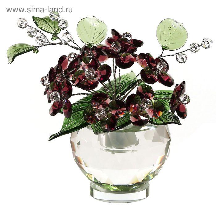 Хрустальные цветы в вазочке №53 VIN