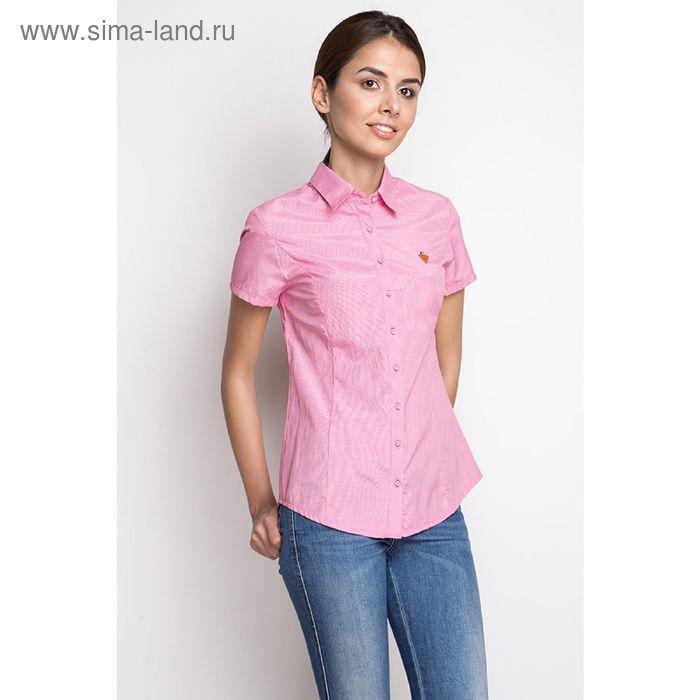 Блузка короткий рукав арт.1075-15206-1, р-р 48, цвет розовый