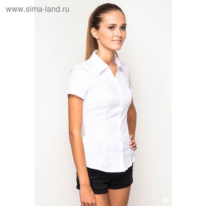 Блузка короткий рукав арт.905-132190L-1, р-р 48, цвет белый