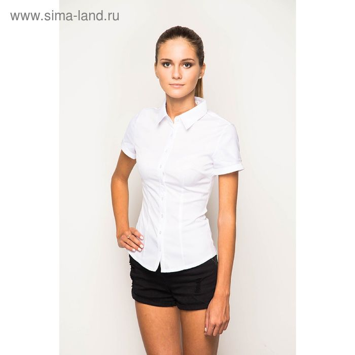 Блузка короткий рукав арт.905-132191L-1 С+, р-р 52, цвет белый