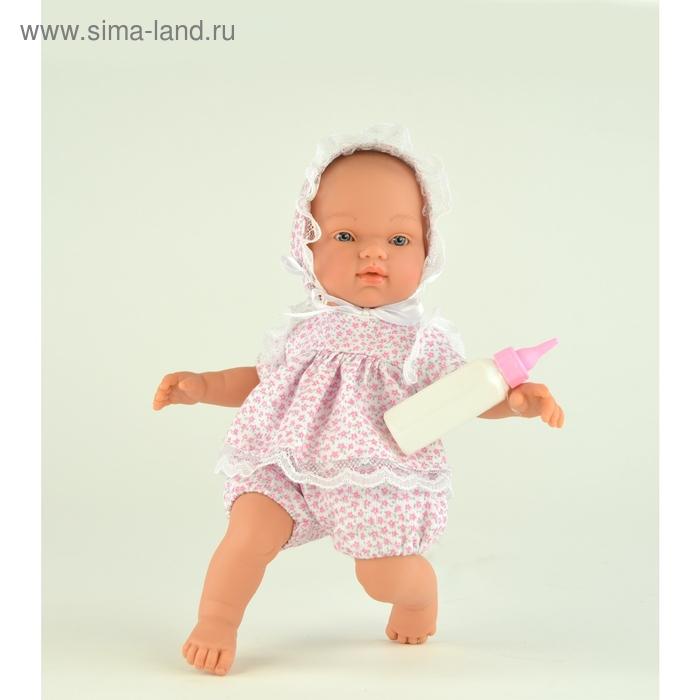 """Кукла """"Гугу"""" в белом костюмчике с розовым цветочным принтом"""