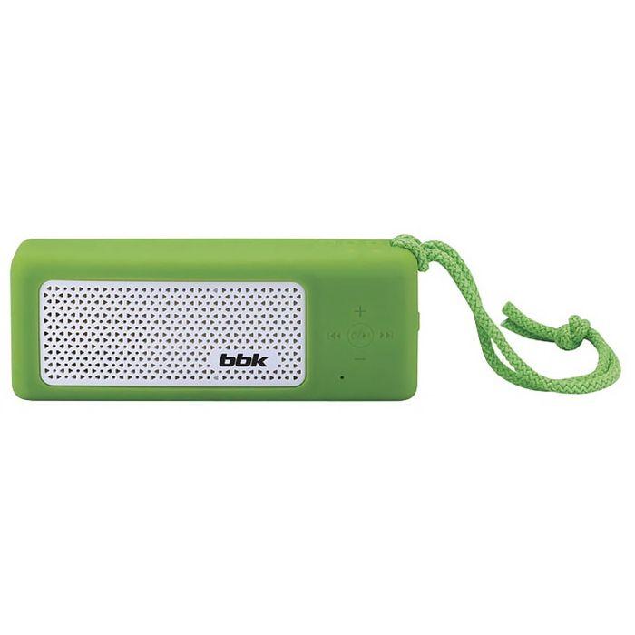 Портативная колонка BBK BTA190, 5Вт, MP3, FM, Bluetooth, Li-Ion 4500 mAh, зелёная