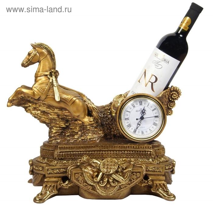 """Часы-подставка под бутылку """"Колесница Гранд"""""""