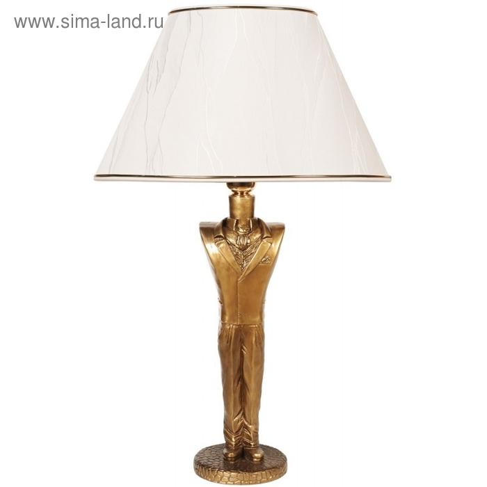 """Настольная лампа """"Джентльмен"""", шелк бежевый"""