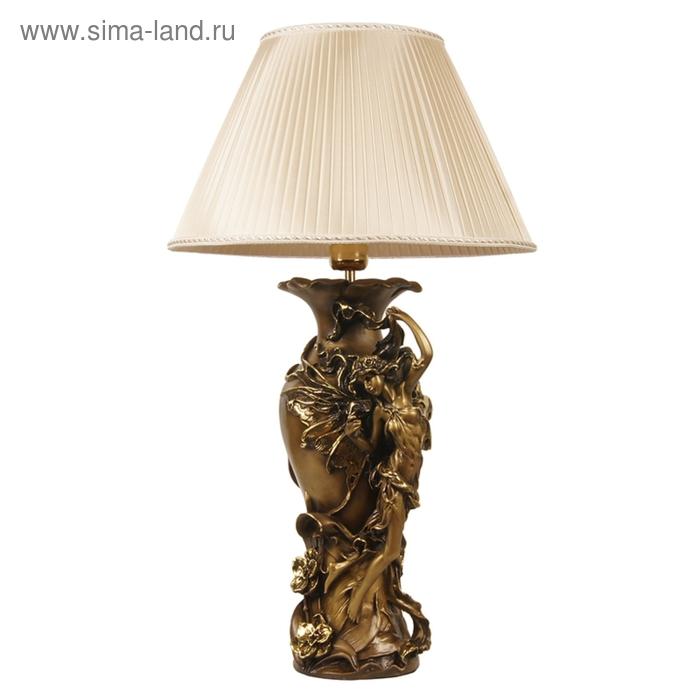 """Настольная лампа """"Флора большая"""", шелк бежевый"""