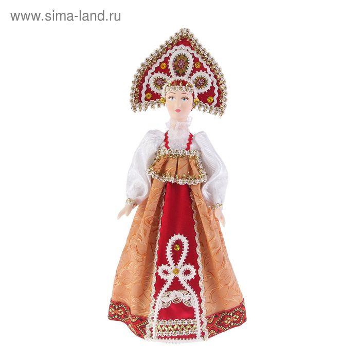 """Авторская сувенирная кукла """"Девушка в красном сарафане"""""""