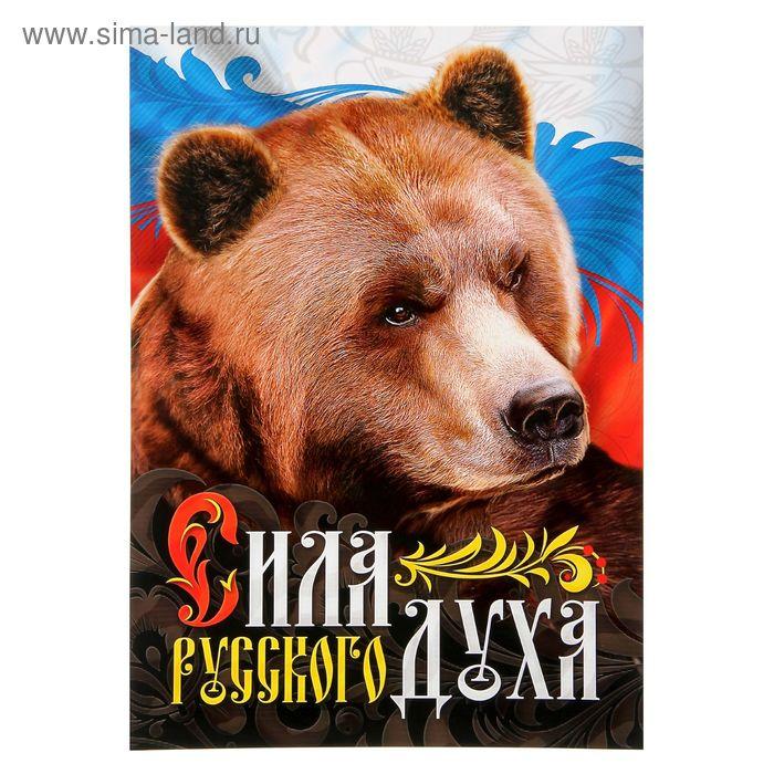 "Плакат А3 ""Сила русского духа"", картон"