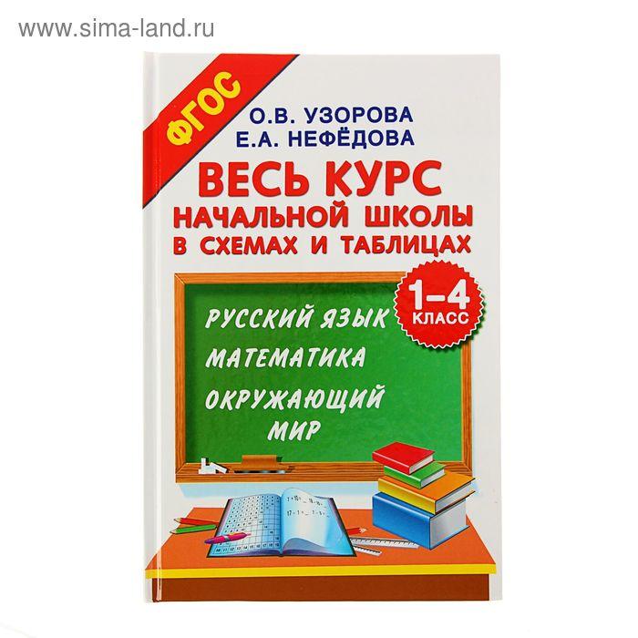 Весь курс начальной школы в схемах и таблицах. 1-4 класс. Русский язык, математика, окружающий мир. Автор: Узорова О.В.