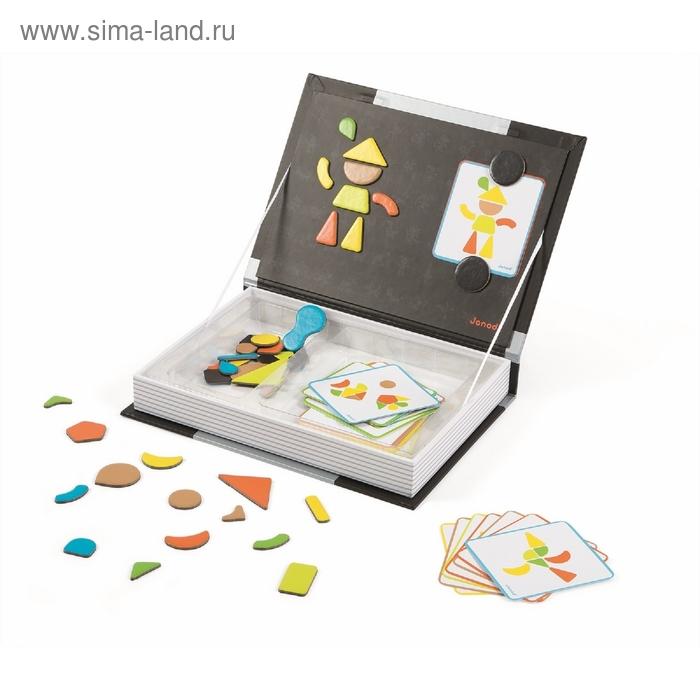 """Магнитная книга-игра """"Мозаика в геометрии"""": 43 магнита, 30 карточек"""