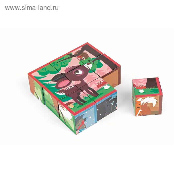 """Кубики """"Лесные животные"""", 9 элементов"""