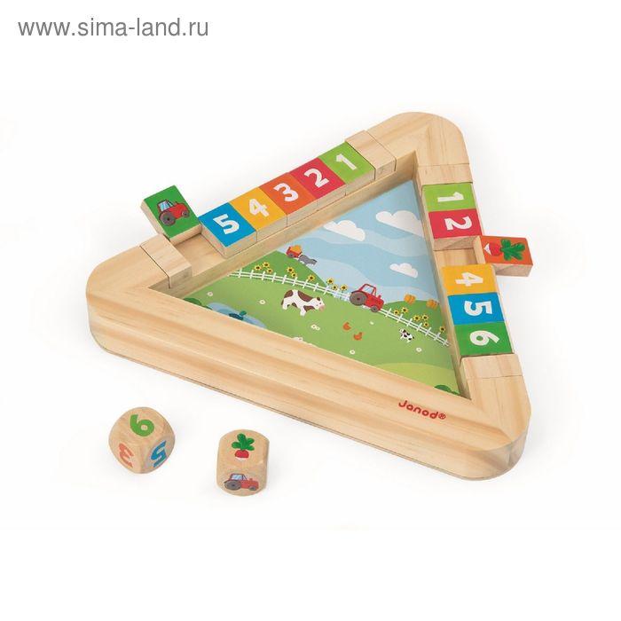 "Настольная игра с кубиками ""Огород"": 12 крышек, кубик с цифрами, кубик с картинками"