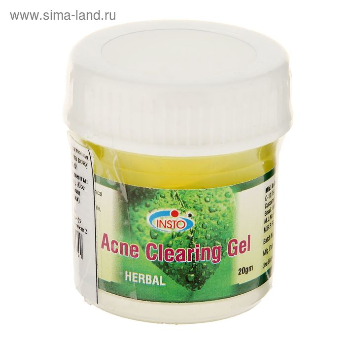 Гель для лица против акне травяной Insto Acne Clearing Gel Herbal, 20 г