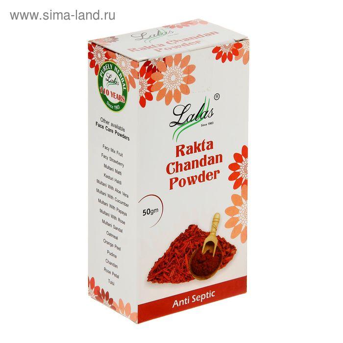 Маска-убтан (глина) для лица антисептическая, упругость и сияние, Lalas Rakta Chandan, 50 г