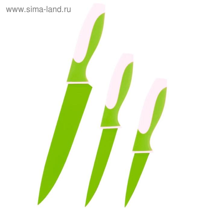Набор ножей, CALVE, 3 предмета: восточный нож Santoku 13 см, нож поварской 20 см, нож универсальный