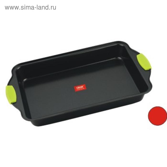 Форма для выпечки CALVE, 40*25,глубокая, с силиконовыми ручками, с антипригарным покрытием