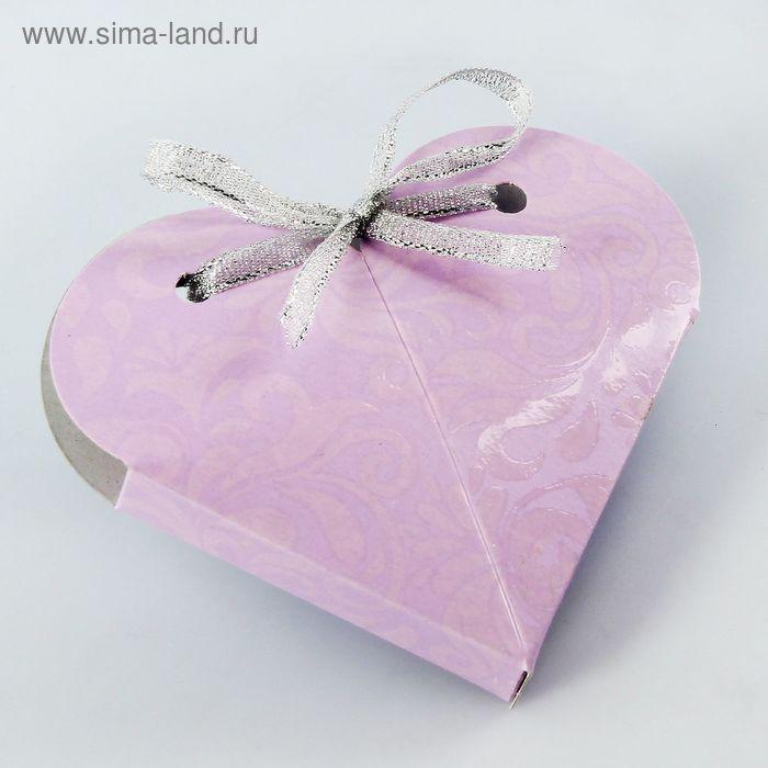"""Коробка """"Сердце"""", сборная, ирис, 8 х 4 см"""