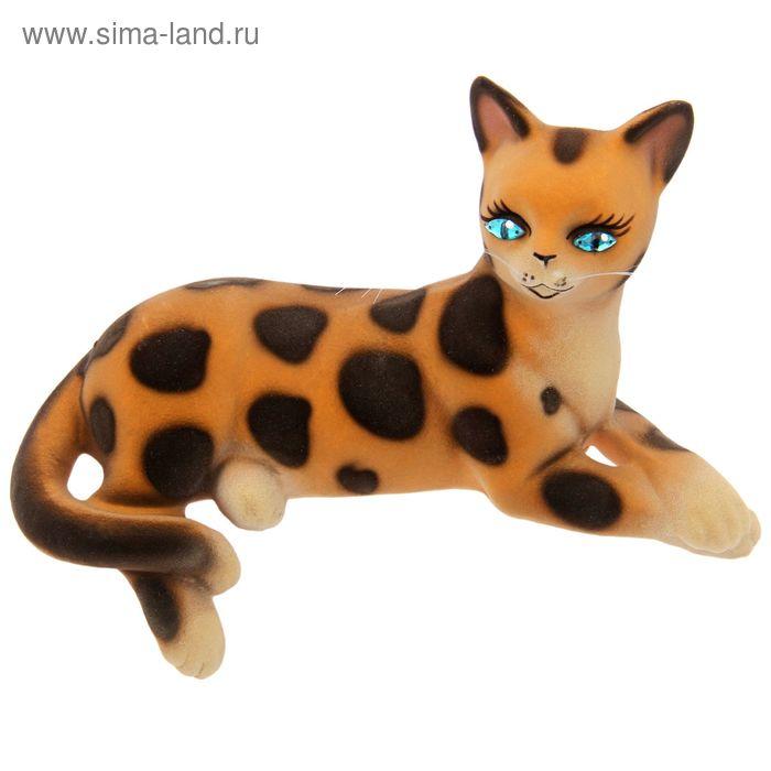 "Копилка ""Агнесса"" флок, бежево-леопардовая"