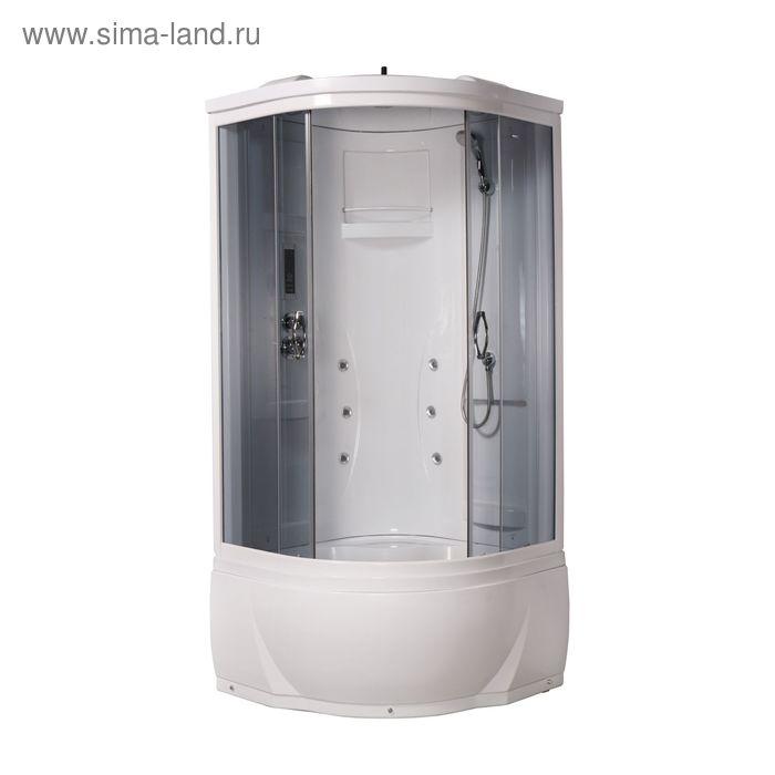 Кабина душевая LUXUS 895, высокий поддон, переднее стекло серое, 900х900х2060 мм