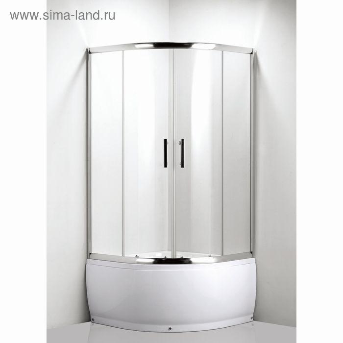 Душевое ограждение LUXUS L012 VETIS, высокий поддон, стекло прозрачное, 900х900х2000 мм