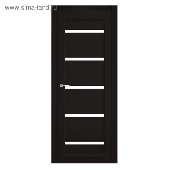 Дверное полотно остекленное Аврора Венге 2000х600
