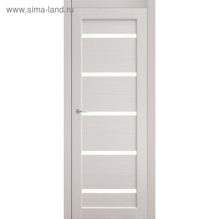Дверное полотно остекленное Аврора Дуб перламутр 2000х800