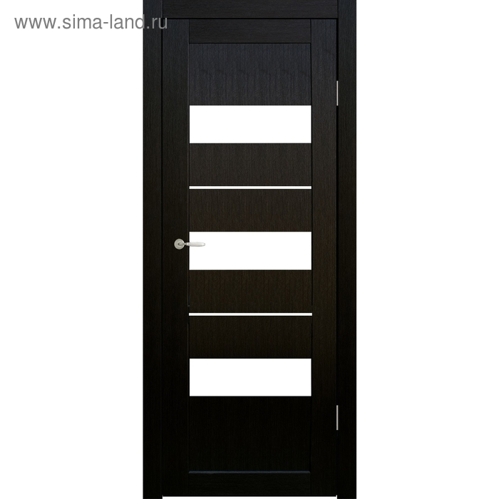 Дверное полотно остекленное Мальта Венге, белый лакобель 2000х700