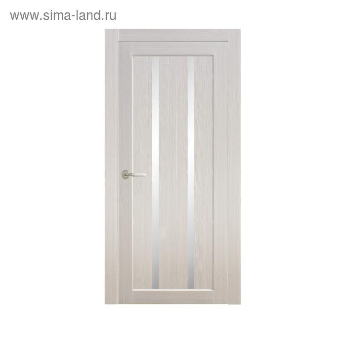 Дверное полотно остекленное Сицилия Дуб перламутр 2000х800