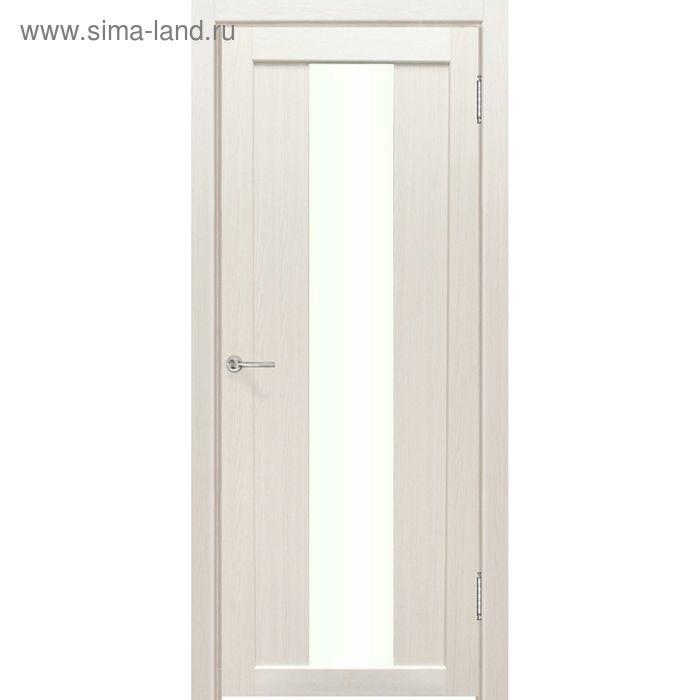 Дверное полотно остекленное Сардиния Дуб перламутр 2000х800