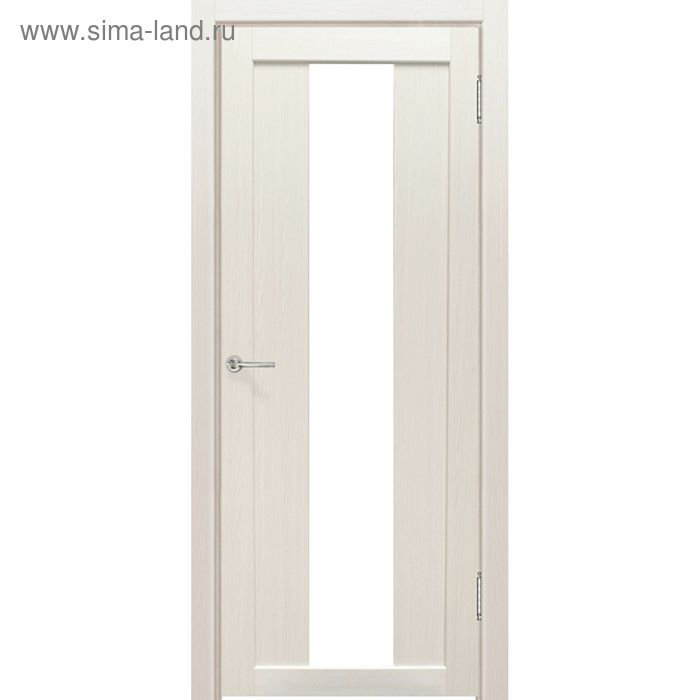 Дверное полотно остекленное Сардиния Дуб перламутр, белый лакобель 2000х800