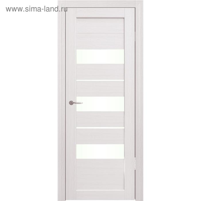 Дверное полотно остекленное Мальта Дуб перламутр 2000х600