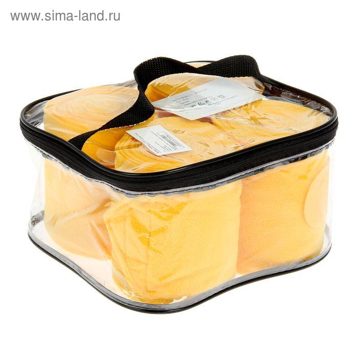 Бинты флисовые комплект 4шт(стан), 3 м х 12 см, желтый