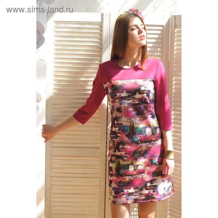 Платье, размер 50, рост 164 см, цвет малиновый (арт. 4995 C+)