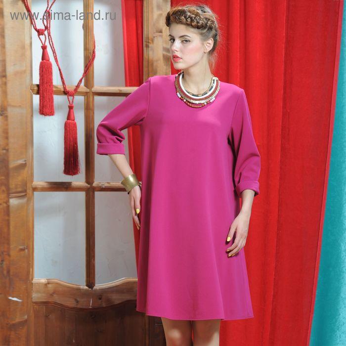 Платье, размер 48, рост 164 см, цвет малиновый (арт. 5040)