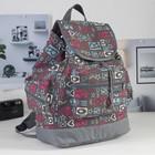 """Рюкзак на стяжке шнурком """"Буквы"""", 1 отдел, 1 наружный и 2 боковых кармана, серый"""