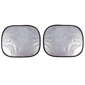 Набор светоотражающих шторок на боковые окна 36x44 см., на присосках, 2 шт