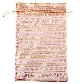 Мешочек подарочный органза красный «Вязаный», 20 х 30 см Ош