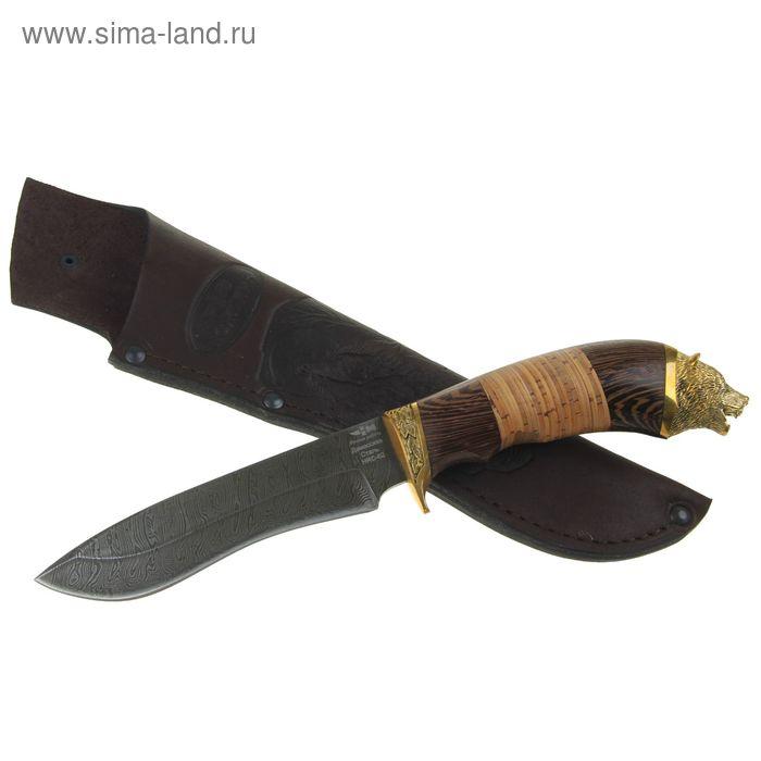 """Нож нескладной """"Мираж"""" (2876)д, рукоять-дерево, дамасская сталь"""