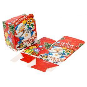 Складная коробка фигурная «Весёлого Нового года», 8 х 8 х 6 см. Ош