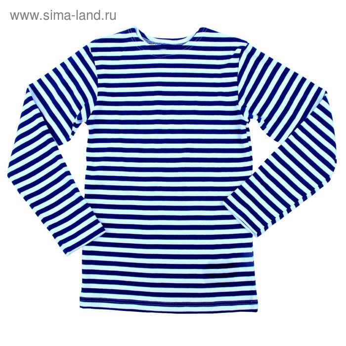 """Джемпер для мальчика """"Морской стиль"""", рост 140 см (72), цвет синий, принт полоска (арт. ПДД221210_Д)"""