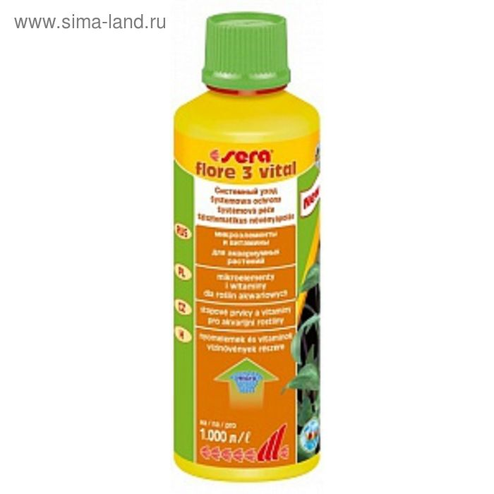 Удобрение для растений Sera Flore  3 витал, 250 мл